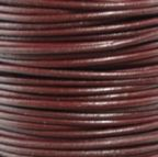 Round Leather Cord, 1.0mm, 2 Meter Pack