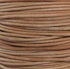 Round Leather Cord, 5.0mm, 1 Meter Pack